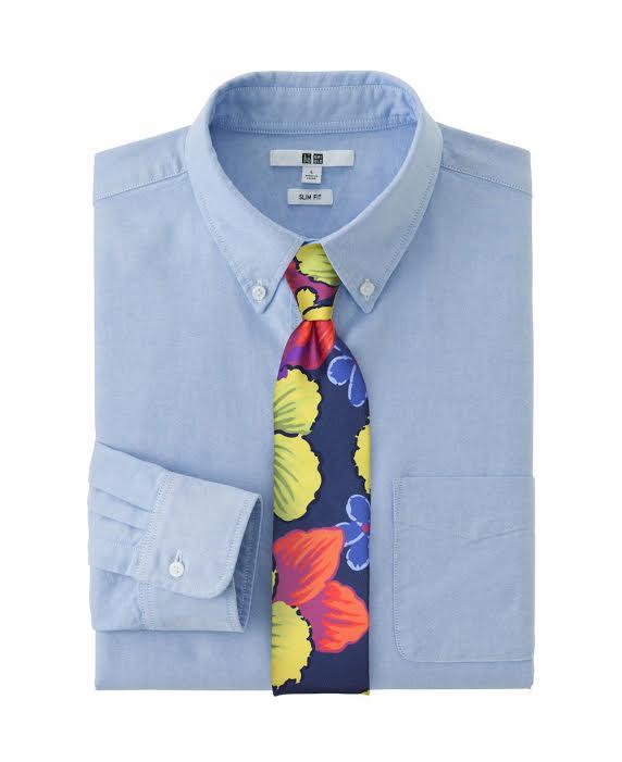 Navy Hawaiian Tie