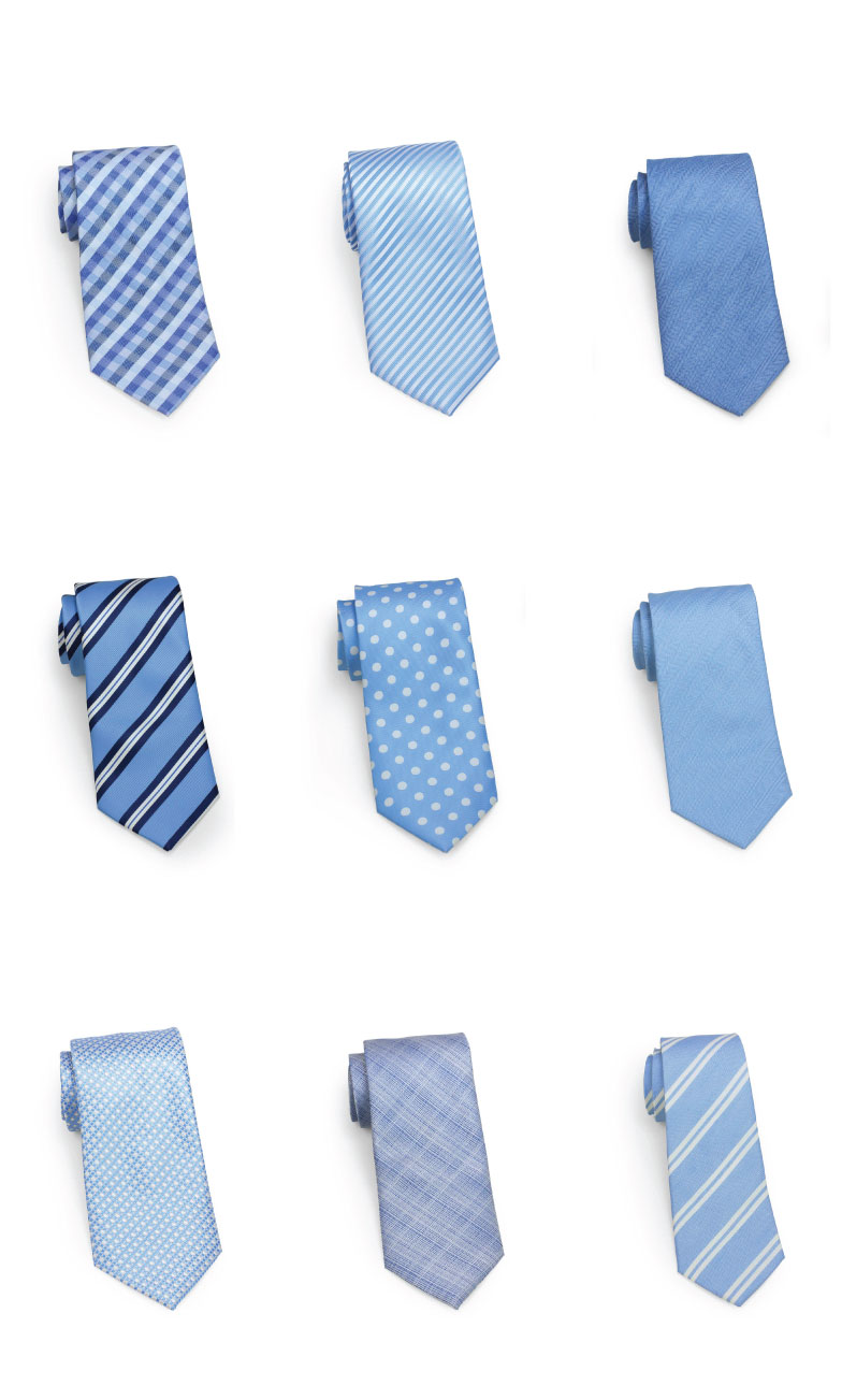 Popular Ties in Baby Blues