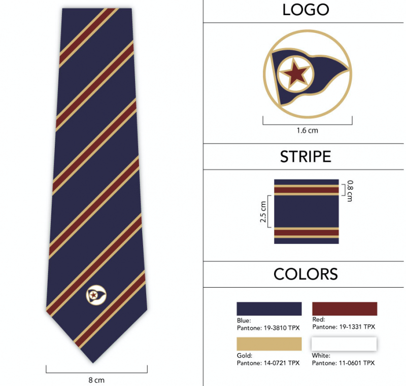 pennant necktie