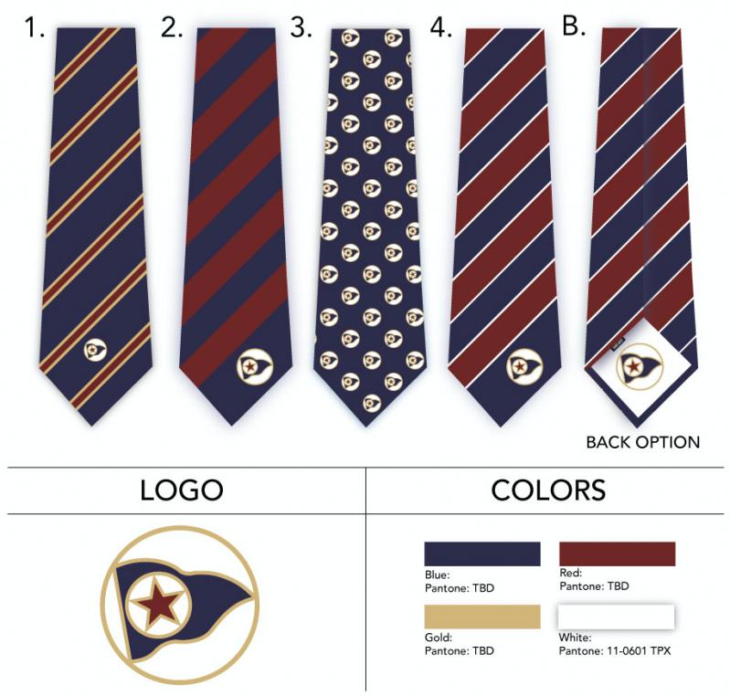 sailing pennant logo necktie