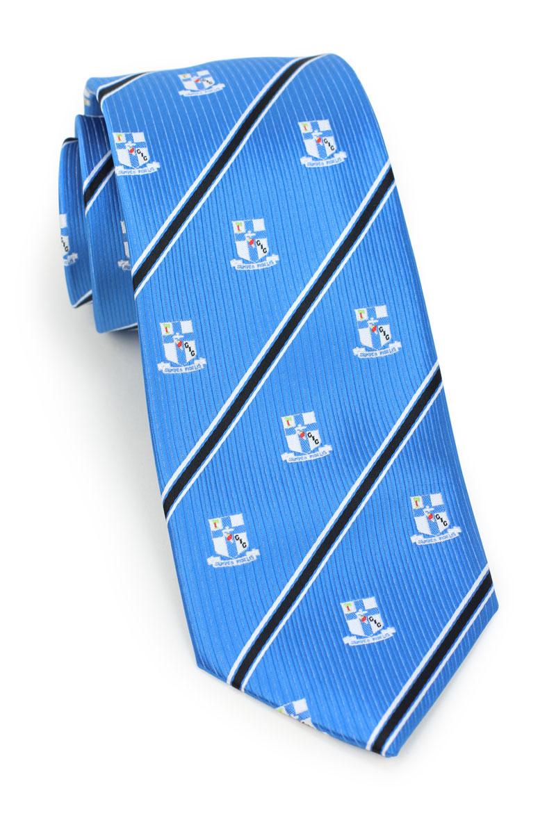 Woven Fabric Logo Mens Tie