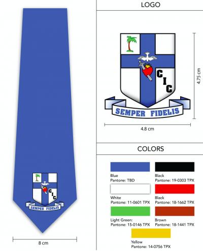 large logo necktie