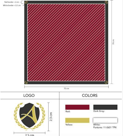 Custom Logo School Uniform Scarf
