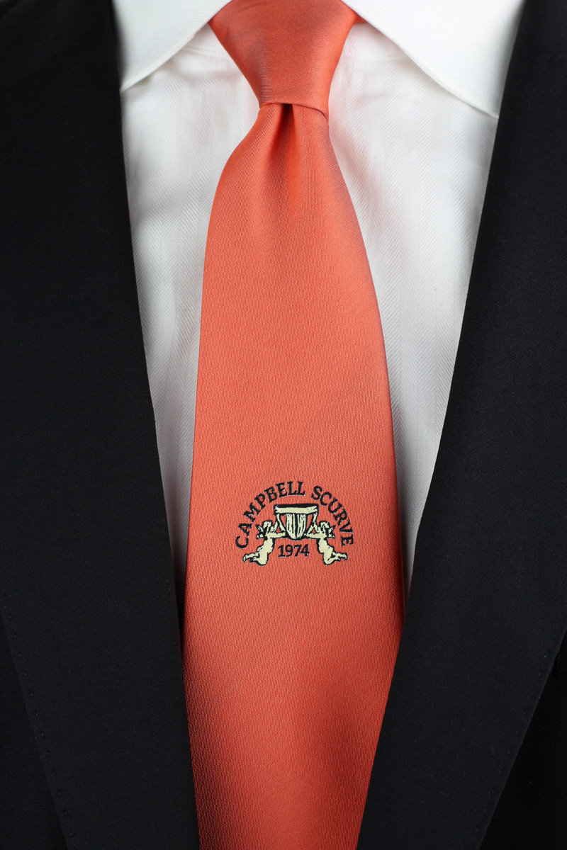 custom embroidered logo necktie