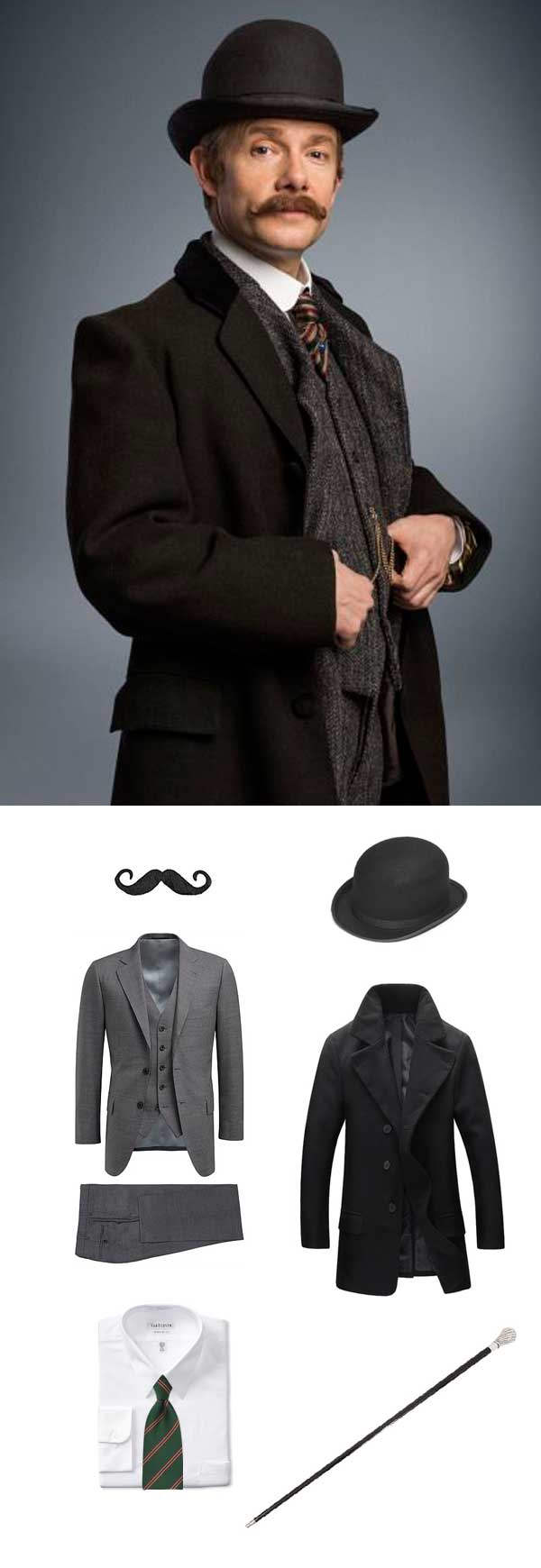Dr. Watson Costume Halloween Outfit