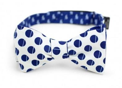custom logo bow tie white