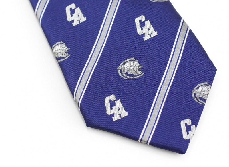 custom woven cougar necktie