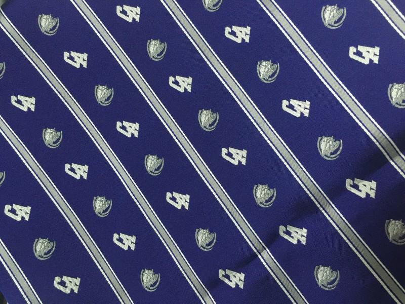 custom necktie fabrics with logo