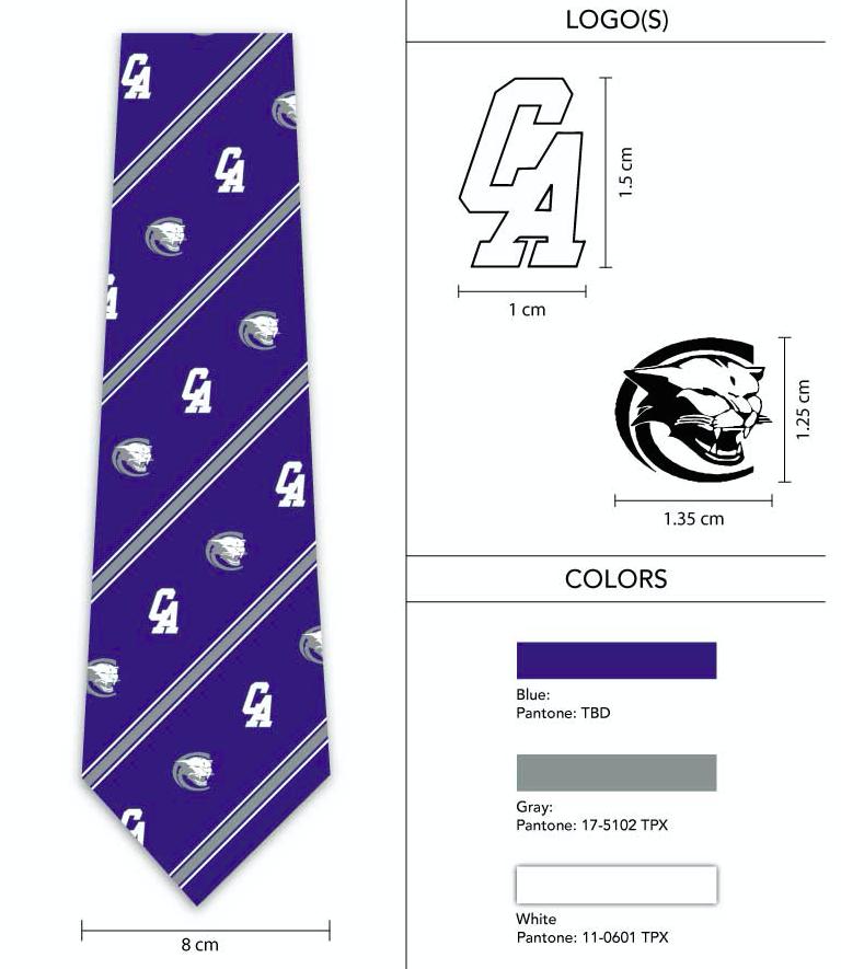 striped logo necktie design
