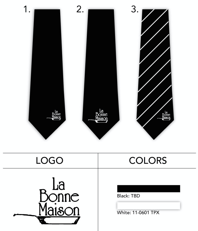 custom tie with logo for wait staff