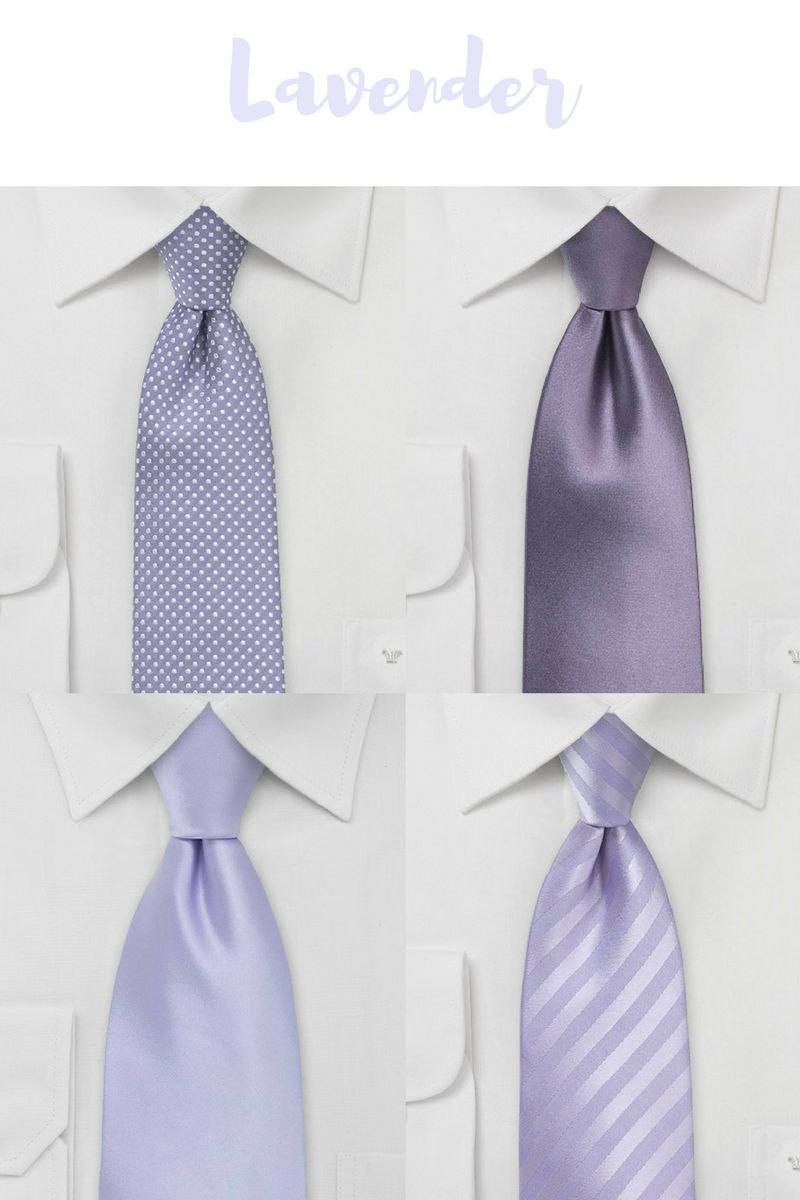 Wedding Neckties in Lavender & Wisteria