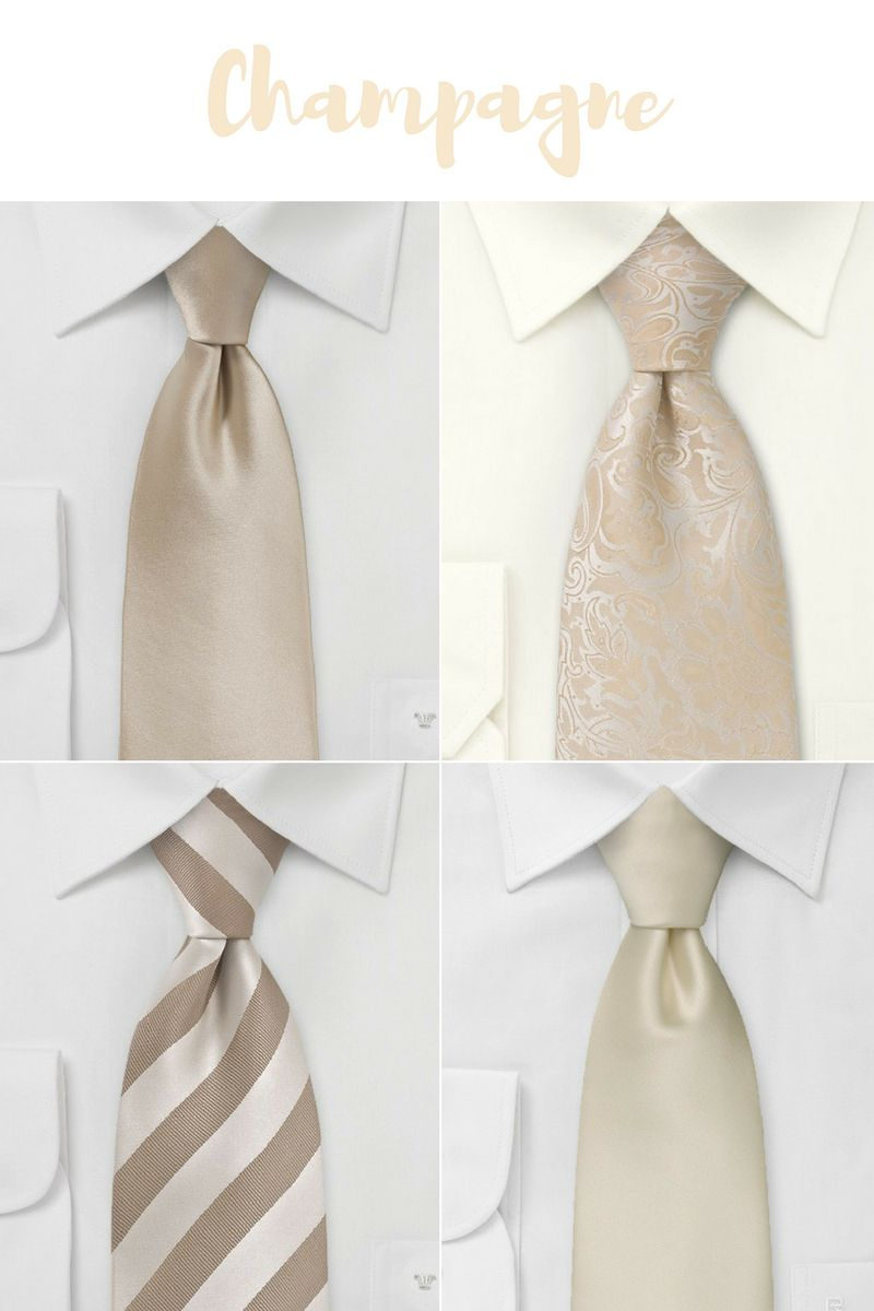 Spring and Summer Neckties in Cream & Champagne