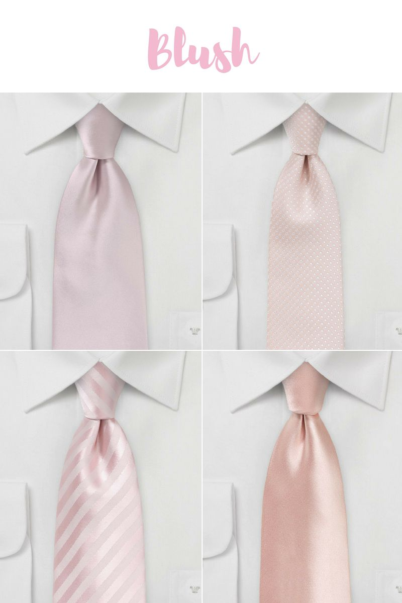 Spring & Summer Neckties in Blush