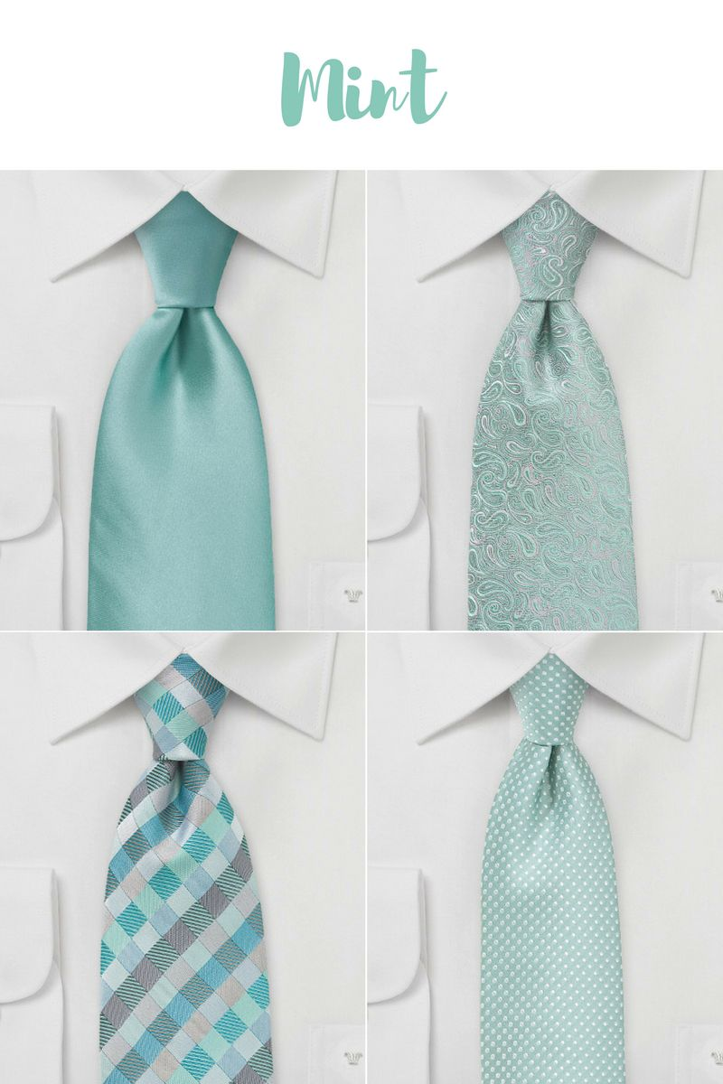 Spring & Summer Wedding Neckties in Mint