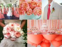 Summer Wedding Neckties in Coral and Pink