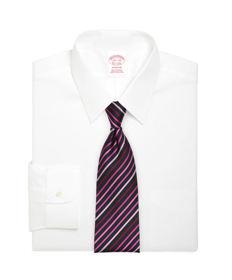 Modern Black Tie With Stripes In Pink