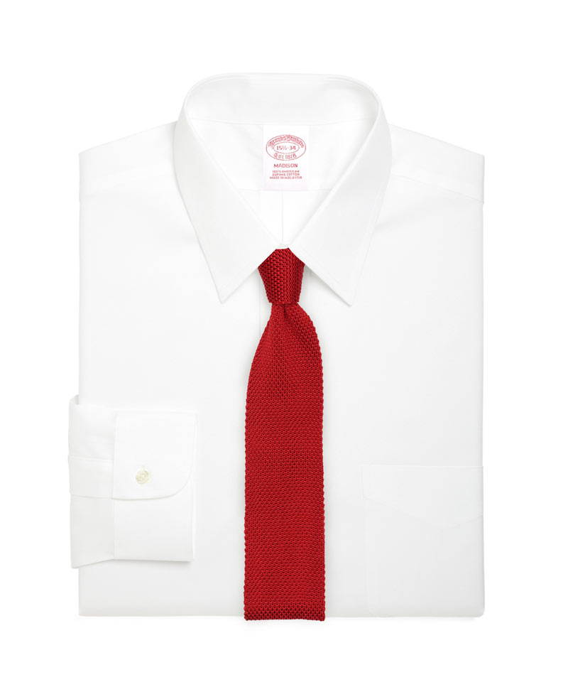 Knitted Silk Tie in Cherry Red
