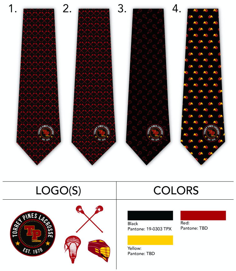 custom necktie design templates