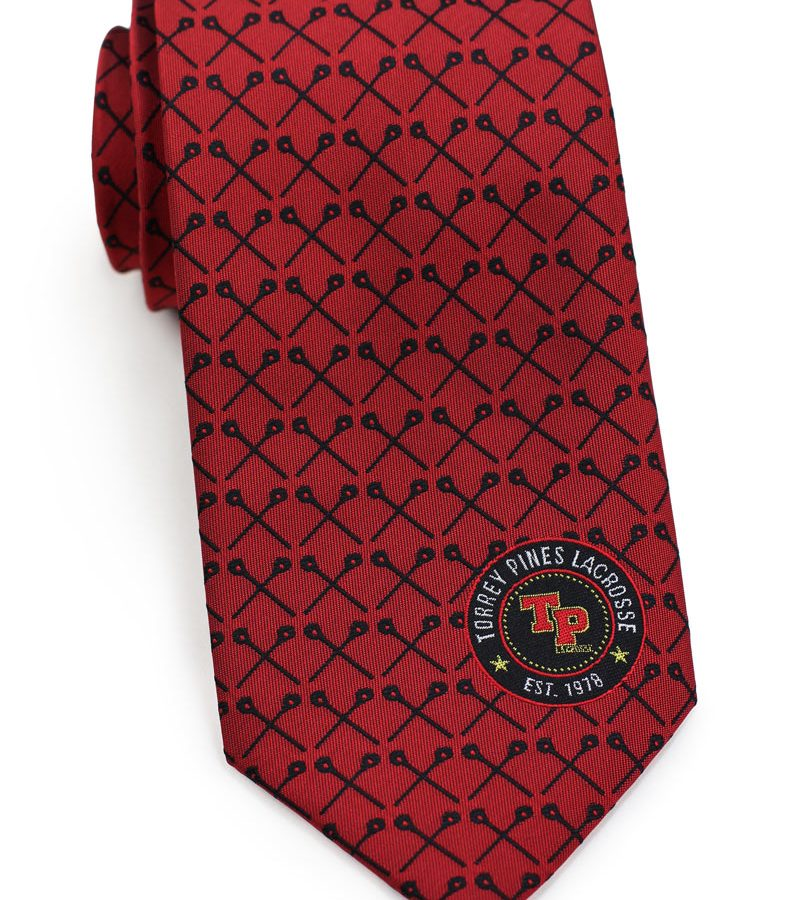 custom logo neckties for high school lacrosse