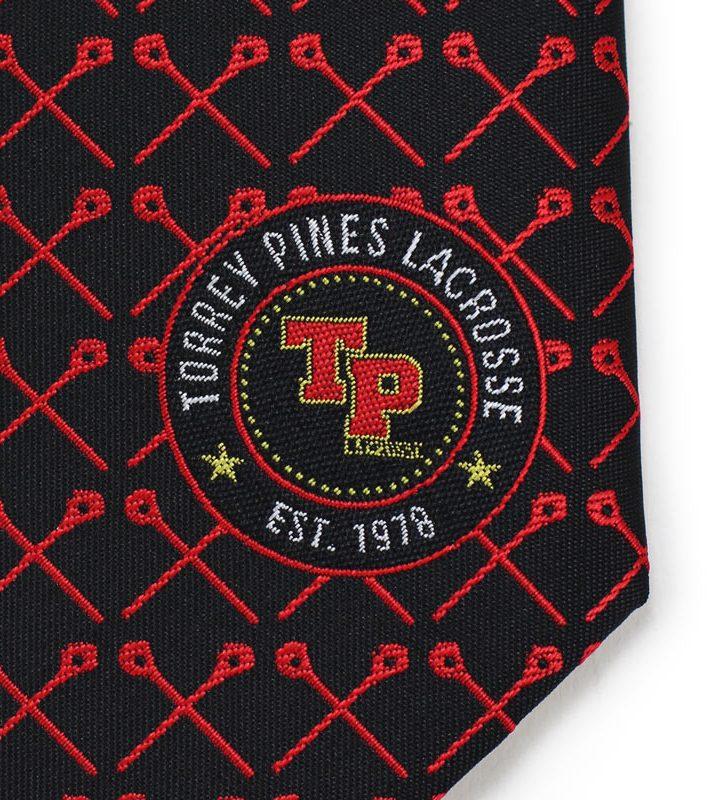 detailed woven custom logo neckties
