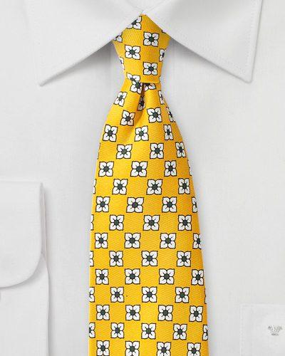 Primrose Yellow Neckties For Men