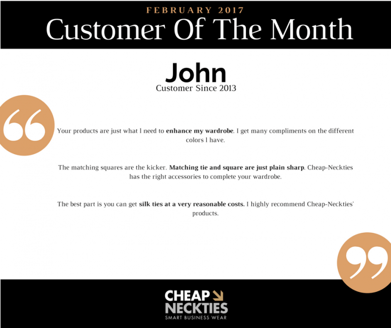 Cheap-Neckties: Customer Of The Month