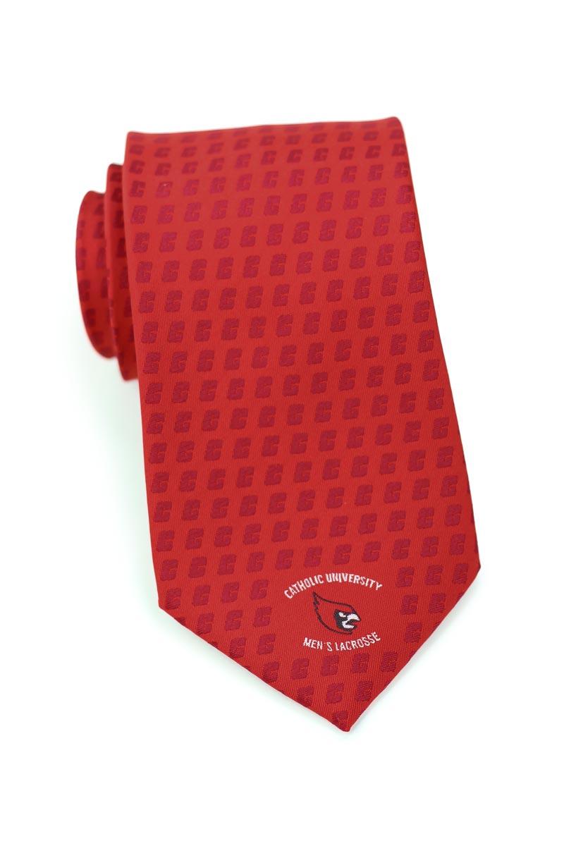 custom logo necktie embroidered