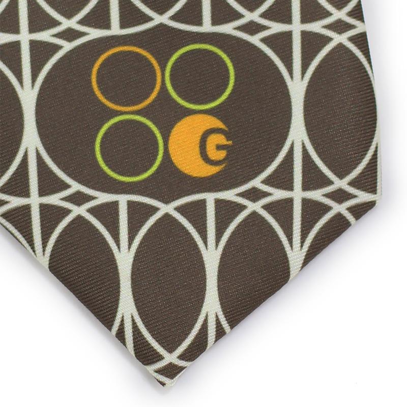 custom logo necktie printed fabric skinny width