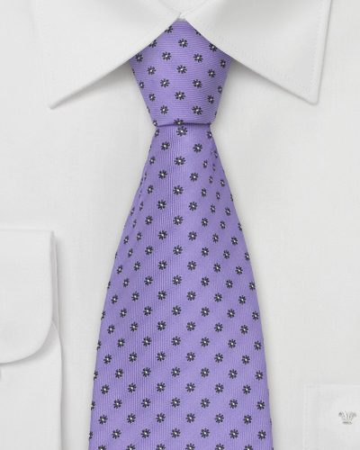 Menswear Color Of The Month - Bellflower Purple Neckties and Bowties