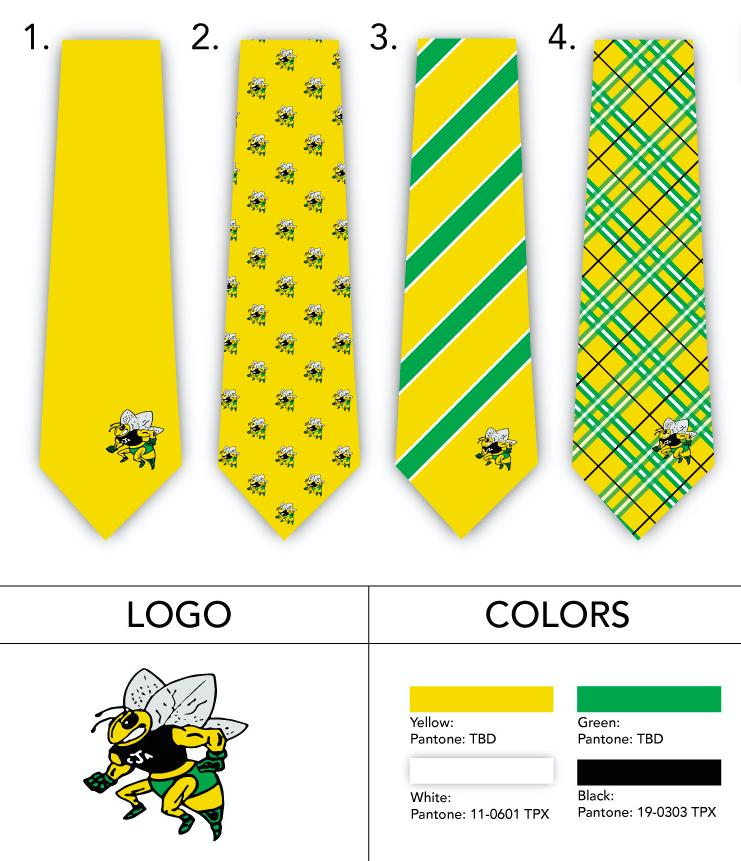 Custom High School Mascot Neckties