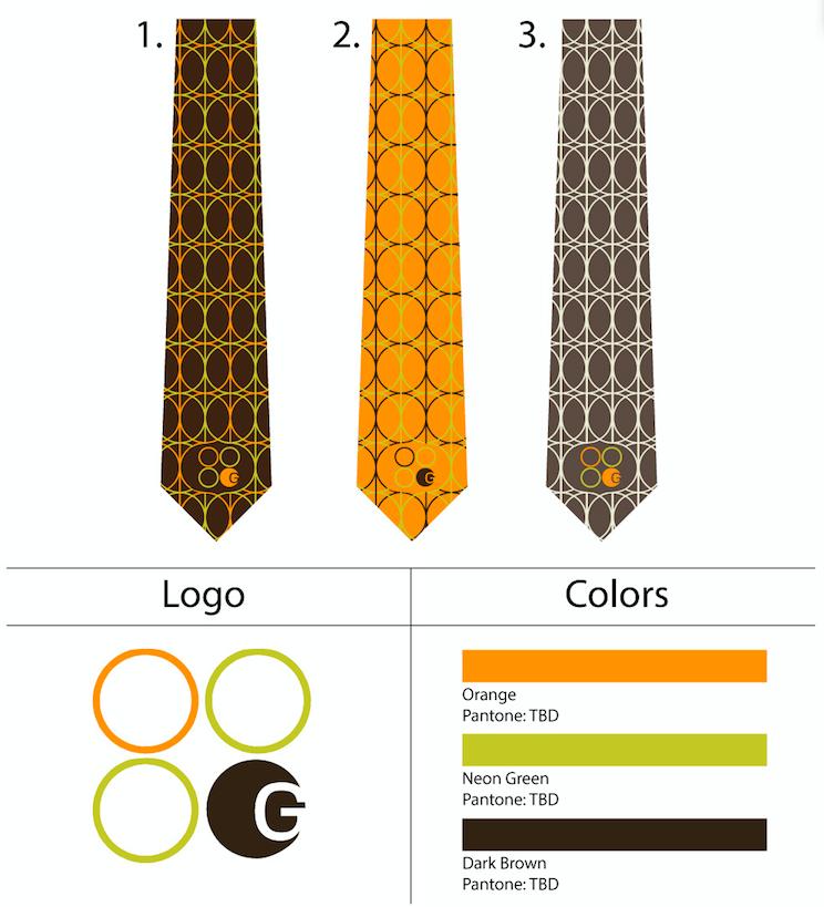 custom printed skinny neckties with logo