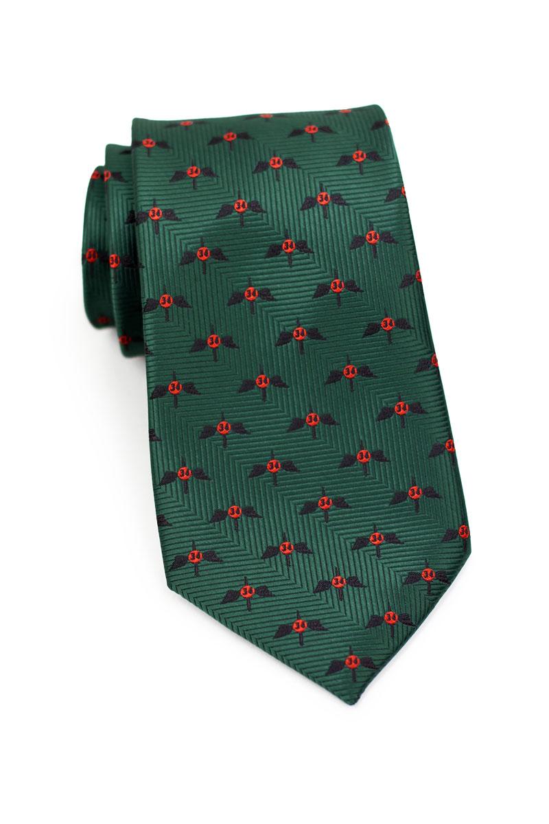 Custom woven logo necktie