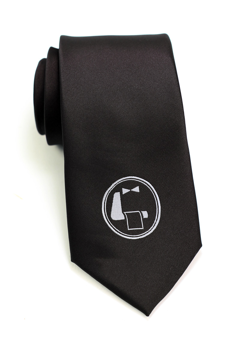 Logo necktie in black