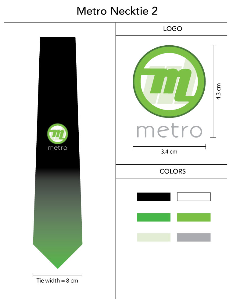 custom ties with gradual color fade