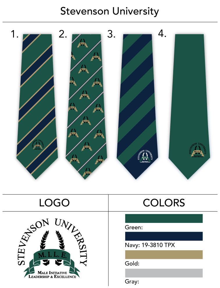 Stevenson_University_neckties