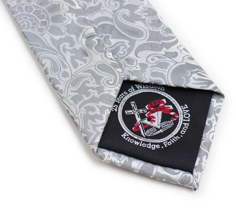 custom embroidered logo necktie