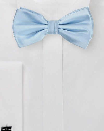 Mens Powder Blue Solid Bow Tie