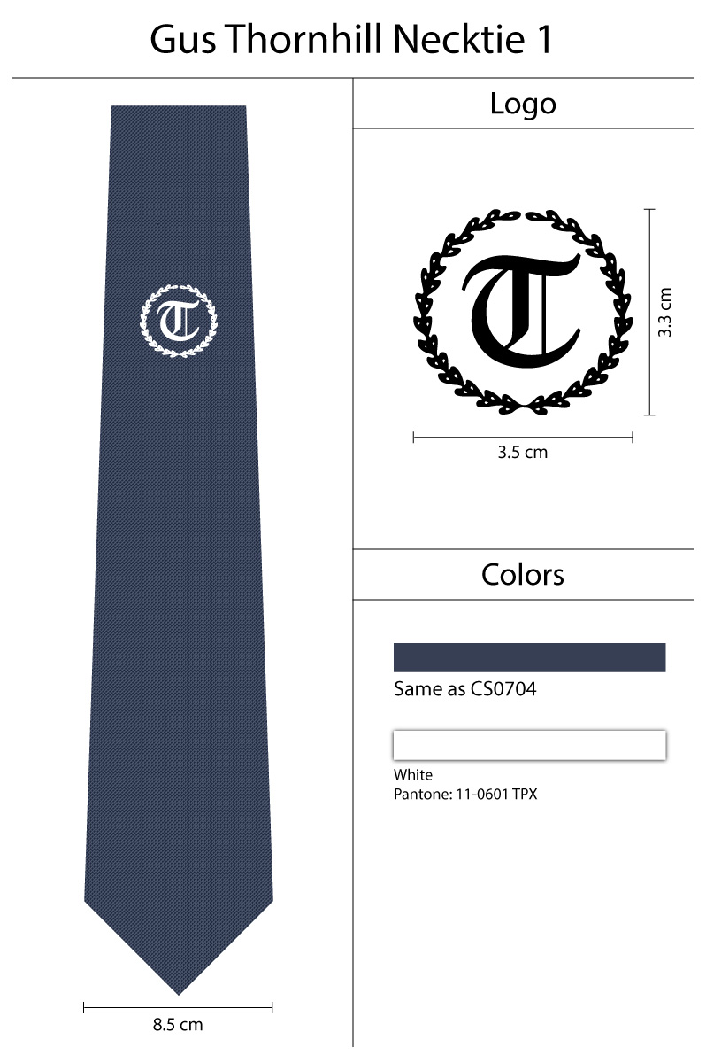 Logo Neckties navy Blue