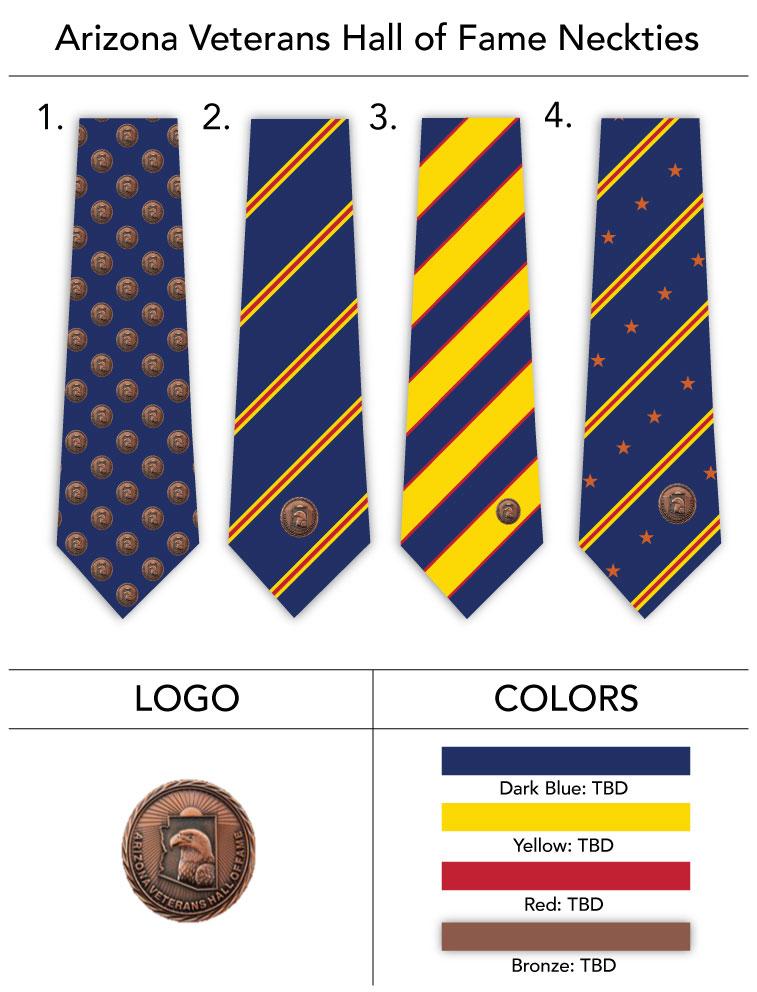 custom logo veterans necktie