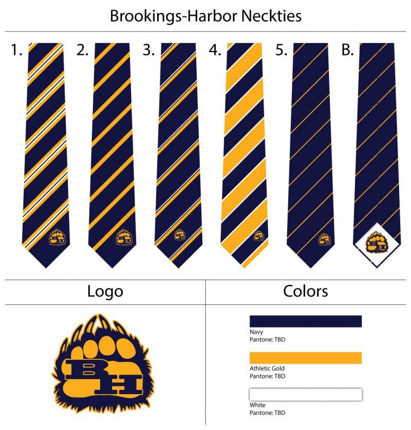 custom school mascot neckties