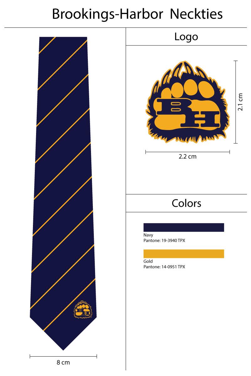 custom striped school mascot ties