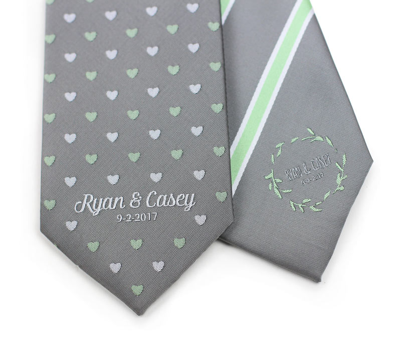 custom neckties for wedding party