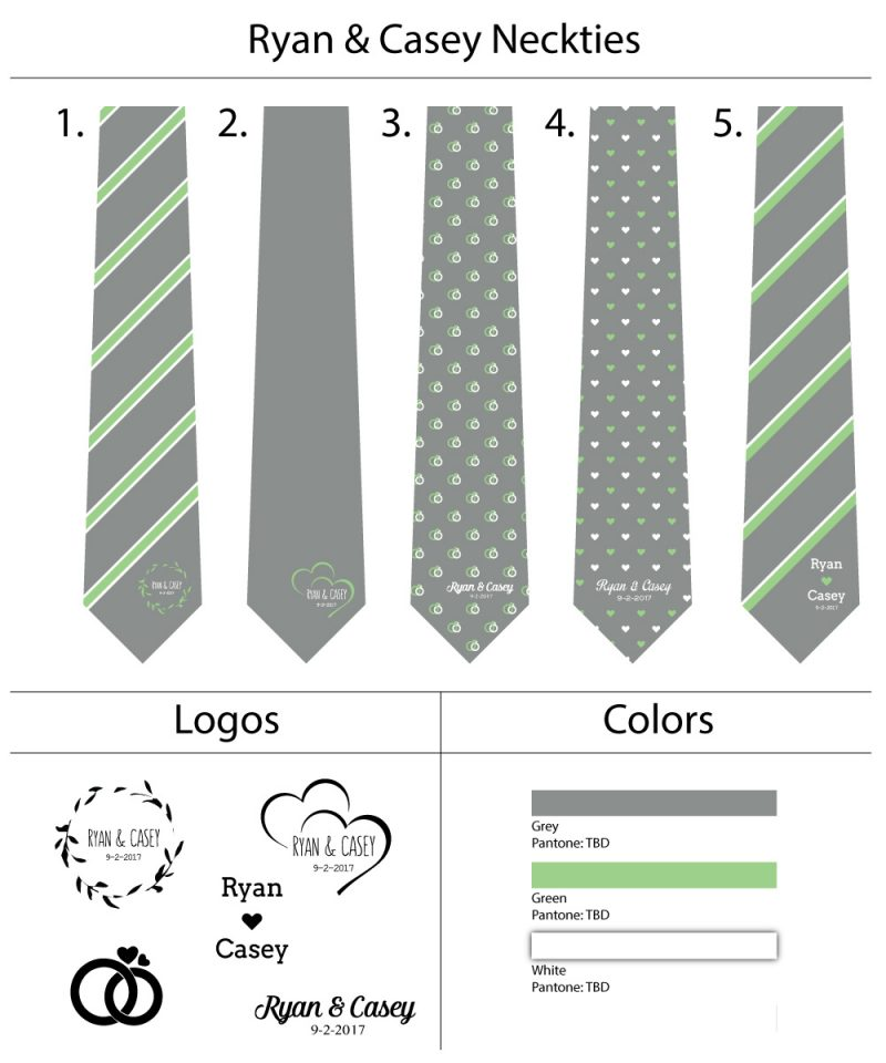 Custom wedding neckties ties bow ties