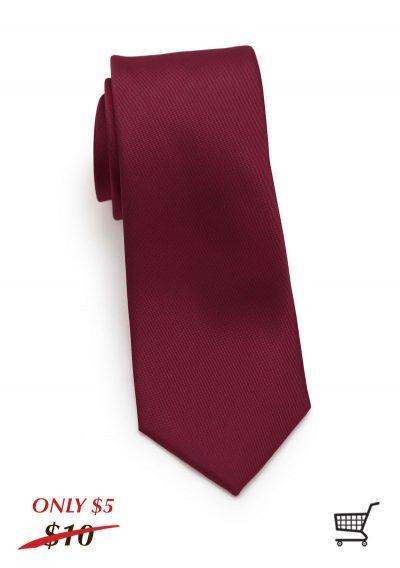 Matte Burgundy Skinny Mens Tie