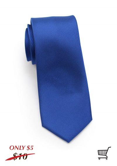 Royal Blue Mens Skinny Matte Necktie