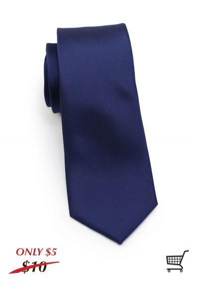 Matte Navy Mens Skinny Necktie