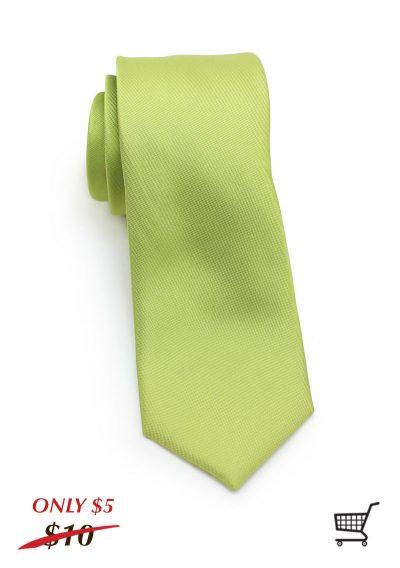 Matte Moss Green Skinny Mens Necktie