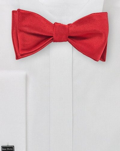 Mens Bow Tie in Self Tie Style in Red
