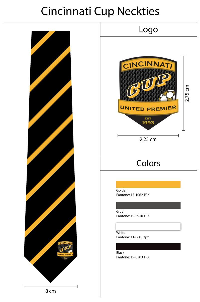 custom logo necktie for Cincinnati Cup