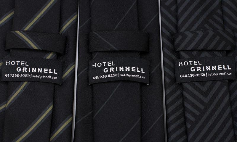 custom tag neckties tie keeper loop